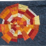 Sunburst on Blue Art Quilt