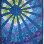 Art Quilt Blue Sun