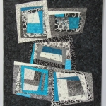Black White Turquoise Wonky Blocks 3
