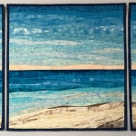 Custom beach with dunes quilt