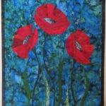 Three Red Poppies CUSTOM