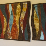 Custom Triptych Wavy Colors