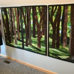 Custom Abstract Trees Triptych