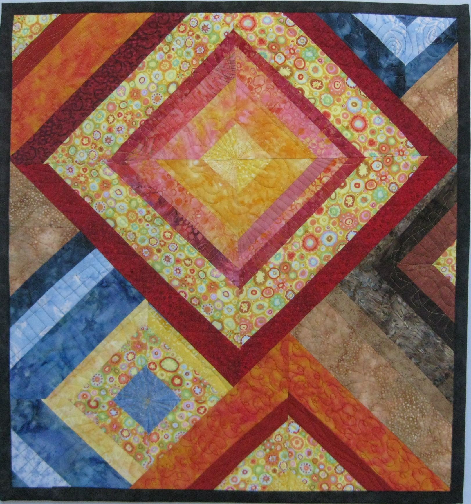 Geometrics And Mosaics Quilts Gallery Art Quilts By Sharon