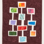 Wonky Colorful Squares Art Quilt