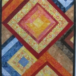 Multi Color Diamonds Art Quilt