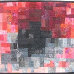 Maroon Black Splash Art Quilt