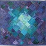 Purple Teal Mosaic Art Quilt