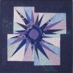 Wonky Blue Purple Star
