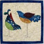 2 silly blue birds