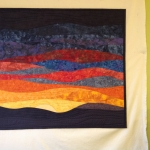 Sunset 18 Art Quilt