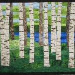 Birch Trees 9 by Lake