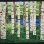 Birch Trees 9 by Lake