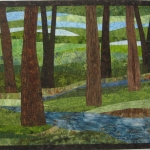 Trees with Stream 6 Art Quilt