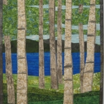 Birch Trees 4 by Lake