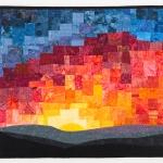 Mosaic Sunset Art Quilt
