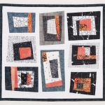 Pink Grey Wonky Blocks Wall Quilt
