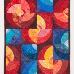 Circles Red Blue Wall Quilt