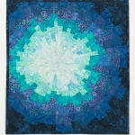 Teal Starburst Art Quilt