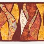 Gold Rust Waves Art Quilt