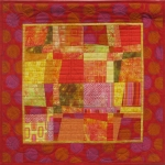 Red Yellow Squares Wall Quilt