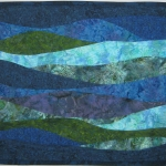 Blue Green Waves Art Quilt