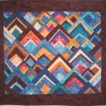 Hillside Houses Art Quilt