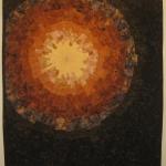 Earthtone Starburst 1 Art Quilt