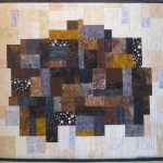 Brown Black Grey Mosaic Art Quilt