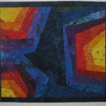 Colorful Abstract Small Art Quilt