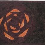 Orange Rose Small Art Quilt