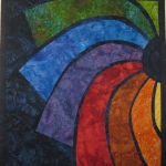 Rainbow Batik Small Art Quilt