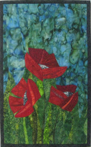 Three Red Poppies