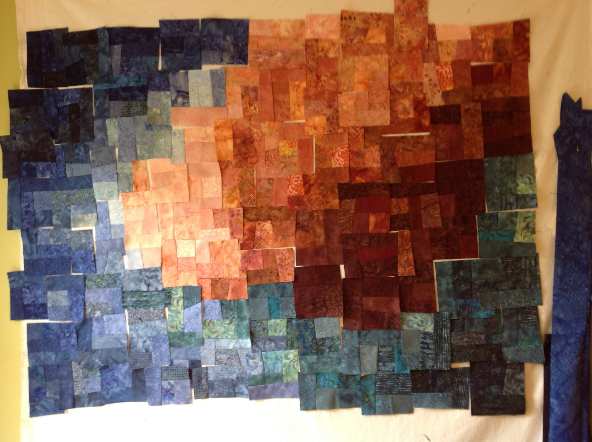 Flannel Design Wall Quilting: Quilts color the ultimate design wall ...