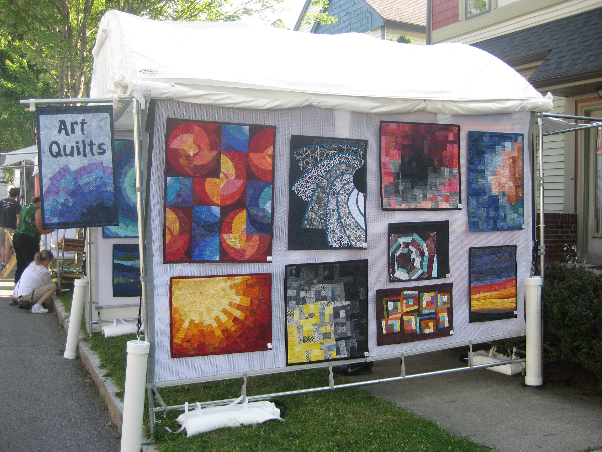 Art booth at Corn Hill Festival in Rochester