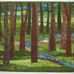 "Custom Quilt 39"" x 47"" Trees 17 with Stream"