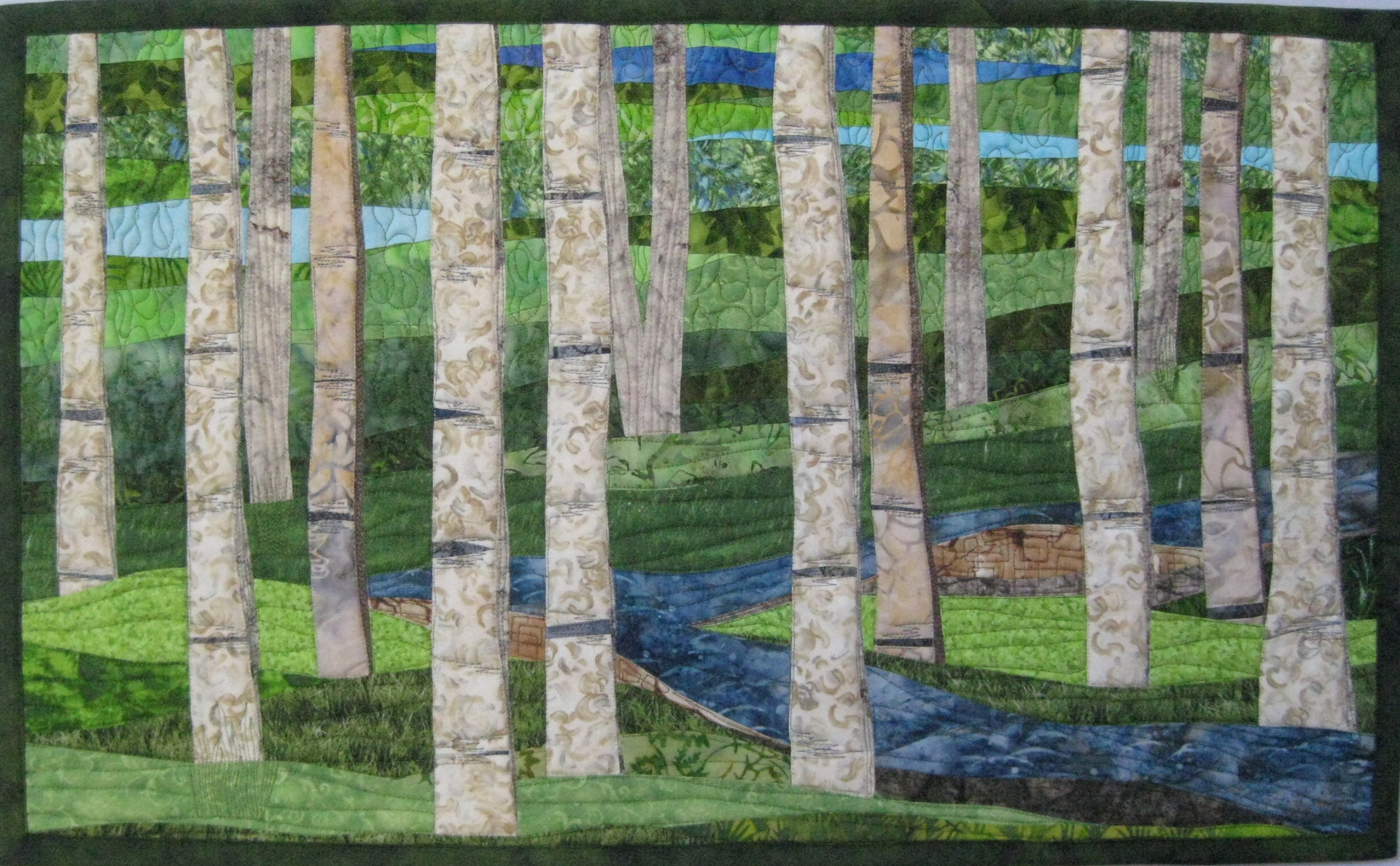Custom Birch Trees 3 Sold Art Quilts By Sharon