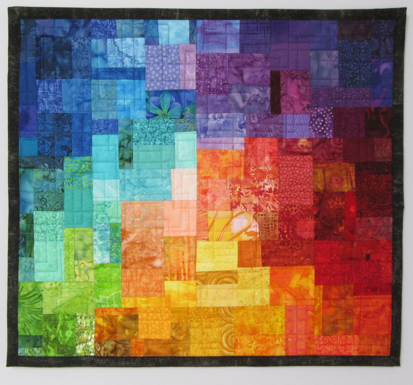 Quilt Stitching to enhance Mosaic Art Quilts - Art Quilts by Sharon : artistic quilts - Adamdwight.com