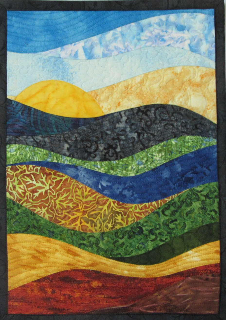 Small Art Quilts in New Designs Art Quilts by Sharon