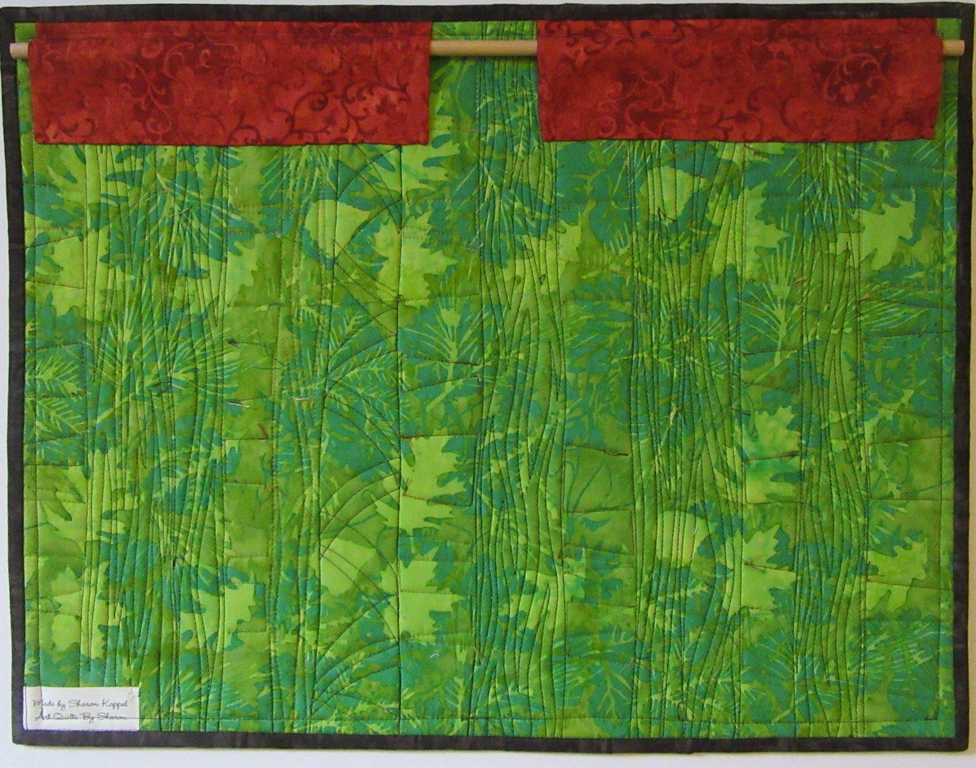 New Art Quilt Hanging Sleeve Design - Art Quilts by Sharon : quilt hanging sleeve - Adamdwight.com