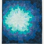 Teal Starburst Art Quilt