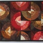 Brown Rust Peach Circles