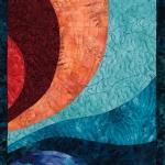 Turquoise Peach Curves: