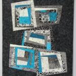 Black White Turquoise Wonky Blocks 3