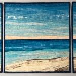 Custom beach with dunes quilt