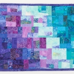 Purple Teal Splash Art Quilt