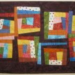 Wonky Eight Squares Wall Quilt