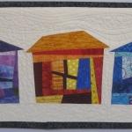 Three Wonky Houses Wall Quilt