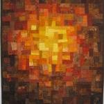 Brown Rust Gold Mosaic
