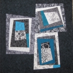 Black Turquoise Wonky Blocks